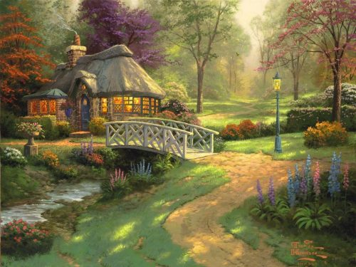 thomas kinkade friendship cottage