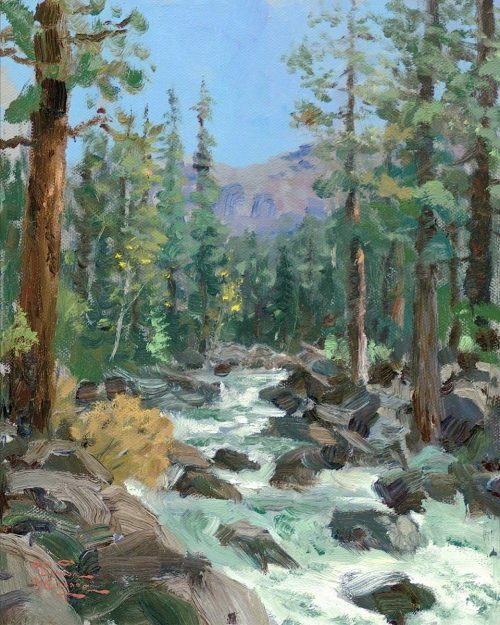 thomas kinkade high country river