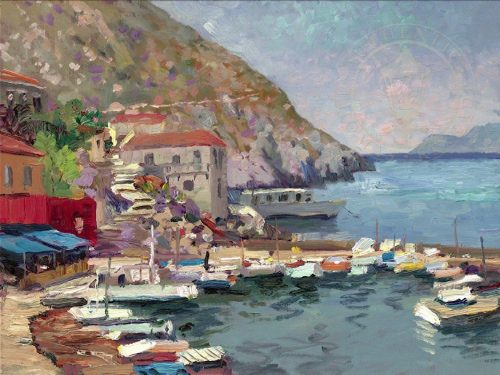 thomas kinkade island afternoon greece