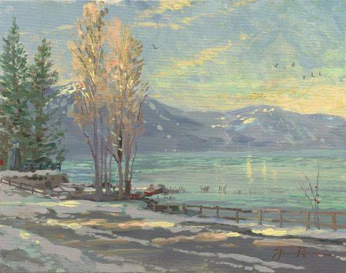 lake tahoe shoreline winter