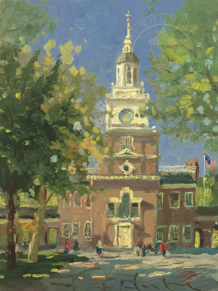 thomas kinkade liberty plaza philadelphia