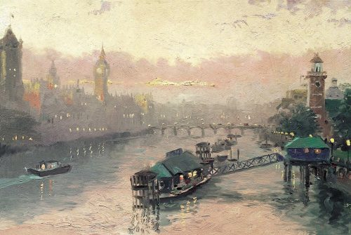 thomas kinkade london at sunset