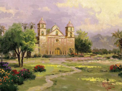 thomas kinkade old mission santa barbara