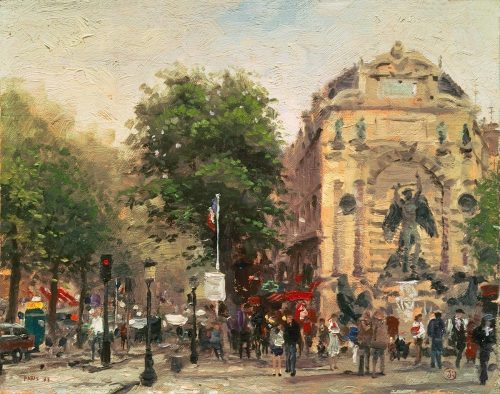 thomas kinkade paris st michel