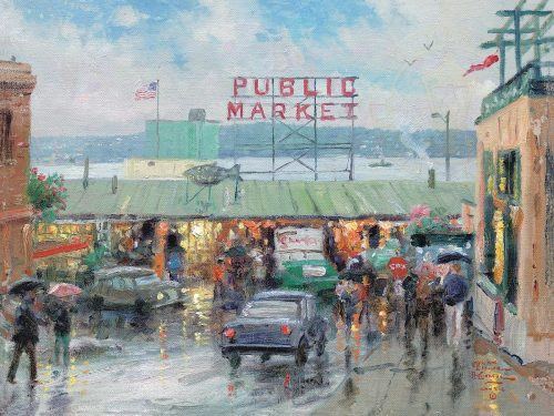 thomas kinkade pike place market
