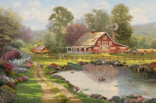 thomas kinkade red barn retreat