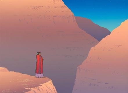 gorman canyon de chelly twilight