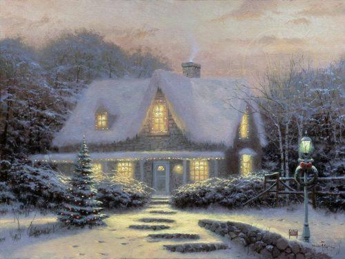 thomas kinkade christmas eve