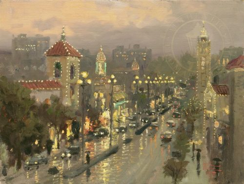 thomas kinkade plaza lights kansas city
