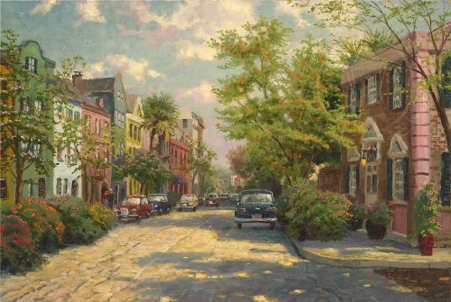 thomas kinkade rainbow row charleston