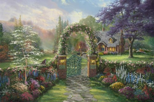 thomas kinkade hummingbird cottage