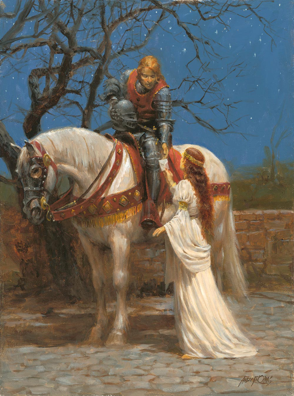 andy thomas a knight and his lady