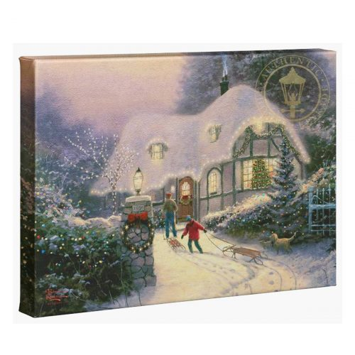thomas kinkade christmas cottage homecoming