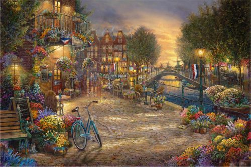 thomas kinkade amsterday cafe