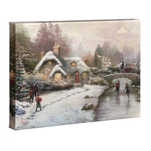 thomas kinkade holiday at everette's cottage