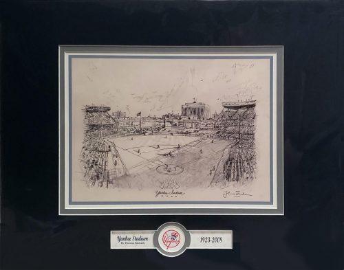 thomas kinkade yankee stadium sketch