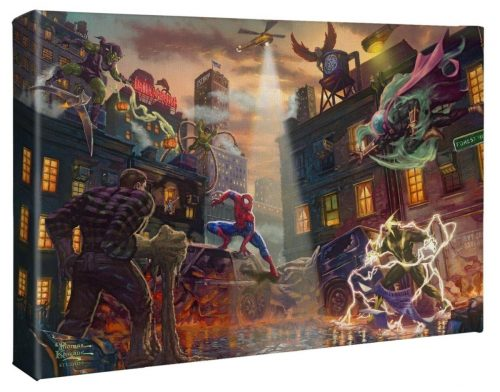 thomas kinkade spider-man vs the sinister six