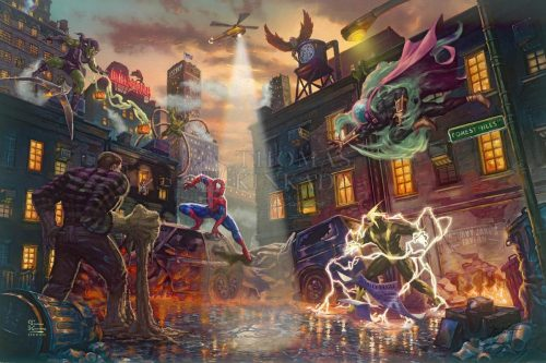thomas kinkade spider-man vs. the sinister six