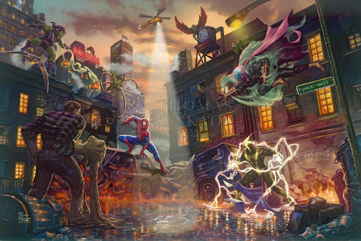 thomas kinkade spider-man vs. the sinister six