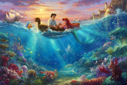thomas kinkade little mermaid falling in love