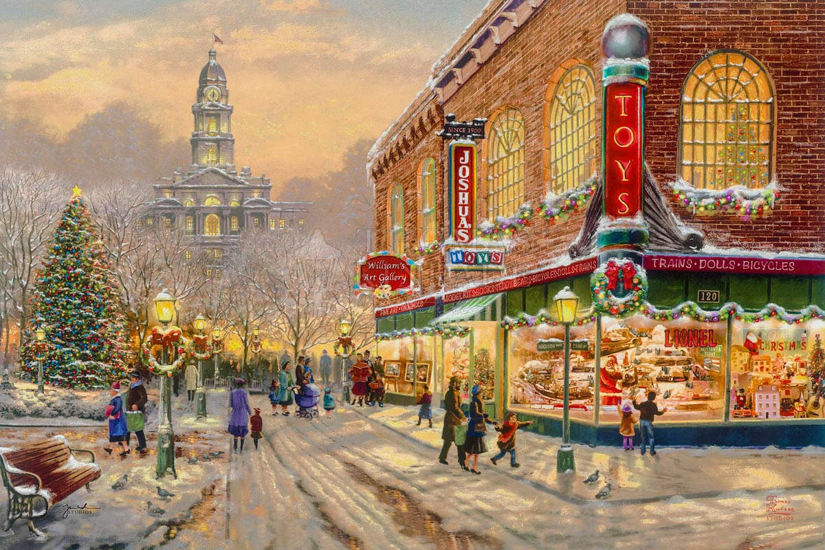 thomas kinkade a christmas wish