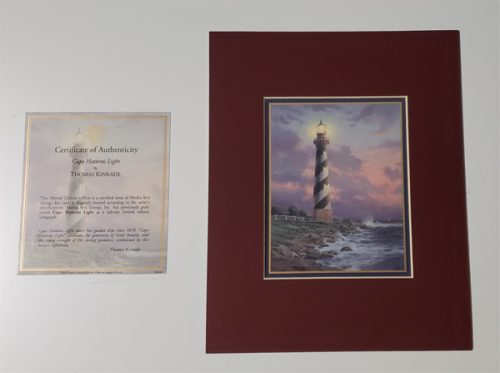 Thomas Kinkade Matted Lithograph on Paper