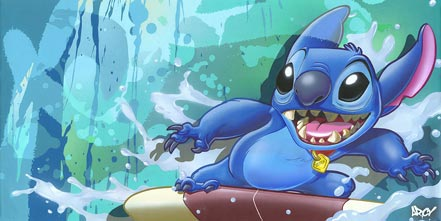 disney surf rider stitch