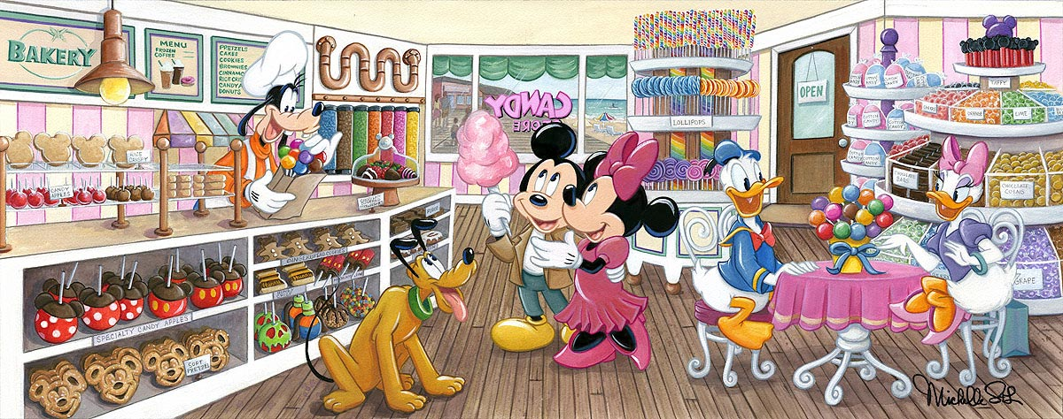 disney trip to the candy store