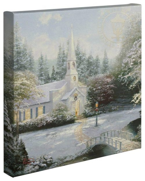 thomas kinkade snow at hometown chapel
