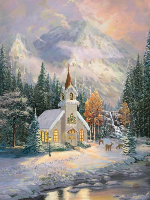 thomas kinkade deer creek chapel