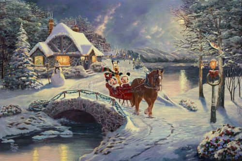 thomas kinkade evening sleigh ride
