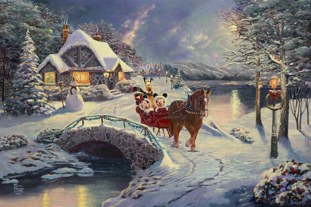 thomas kinkade evening sleigh ride