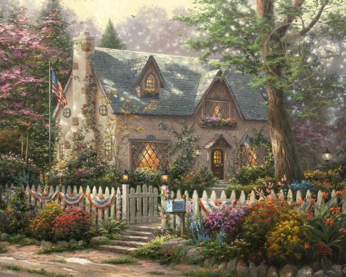 thomas kinkade liberty lane cottage