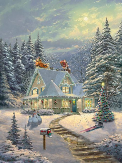thomas kinkade midnight delivery