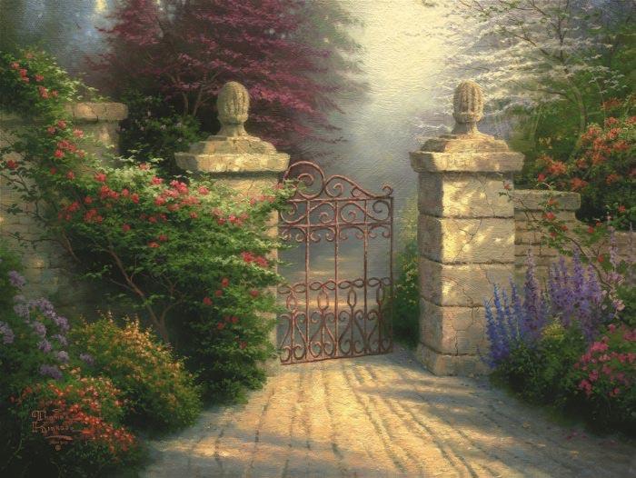 thomas kinkade the open gate