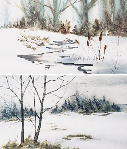 owne wexler cattails first snow
