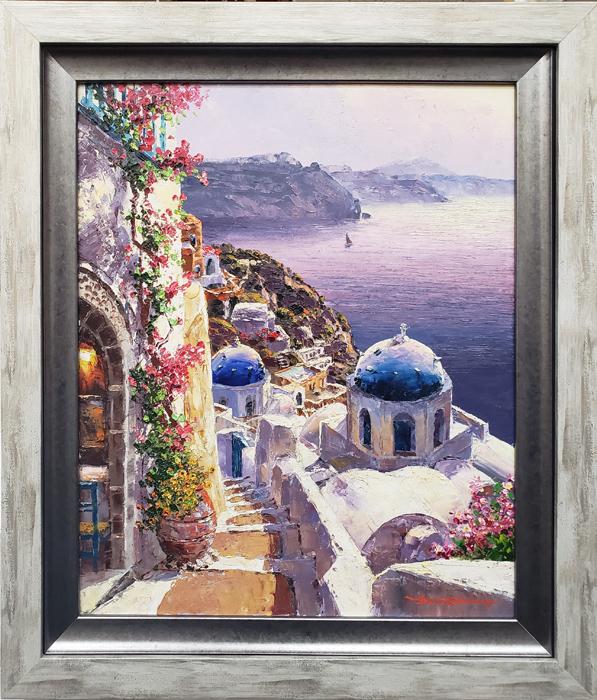santorini-framed