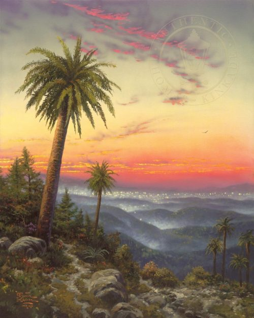 thomas kinkade desert sunset