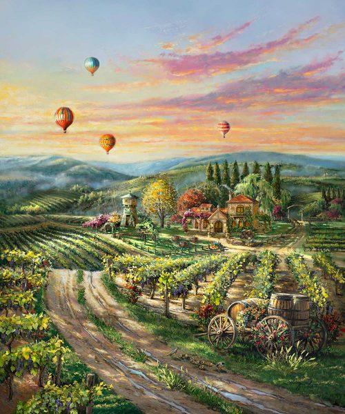 thomas kinkade peaceful valley vineyard