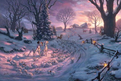 thomas kinkade 101 dalmatians on the run