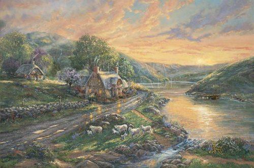 thomas kinkade daybreak at emerald valley