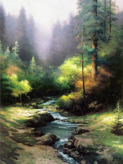 thomas kinkade creekside trail