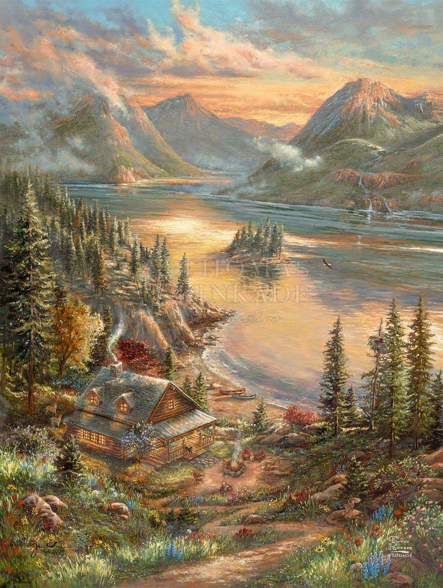 thomas kinkade lakeside splendor