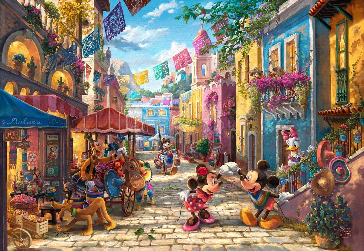 thomas kinkade mickey and minnie in mexico